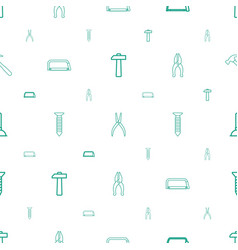 repair icons pattern seamless white background vector image