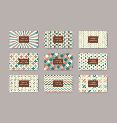 retro design wallpapers banners vector image