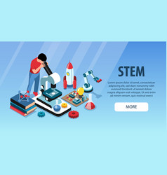science education horizontal banner vector image
