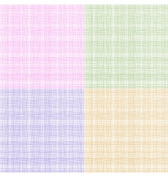 Set of colorful thread fabric texture vector image