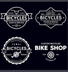 Set vintage and modern bike shop logo badges vector