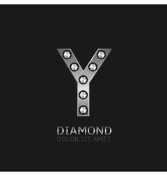 Silver Y letter vector