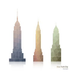 skyscrapers of new york city vector image