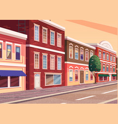 street town cartoon the vector image