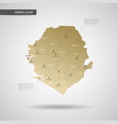 stylized sierra leone map vector image