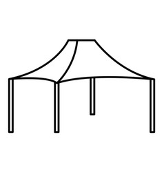 Tent icon outline style vector