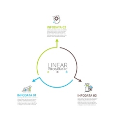 Thin line flat element for infographic vector image