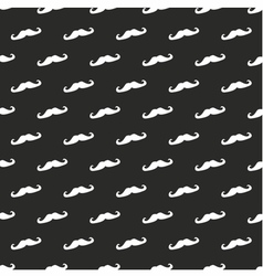 Tile mustache pattern or background vector image