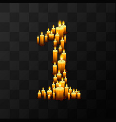 Tribulation numbers 1 of candles vector