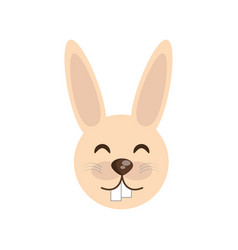 cute face rabbit animal cheerful vector image vector image