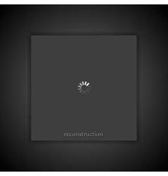 Dark abstract loading progress background vector image