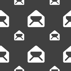 Mail envelope letter icon sign Seamless pattern on vector image vector image