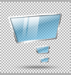 Transparent abstract hi tech glossy glass and vector image