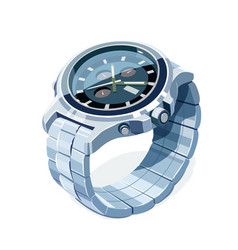 wrist mechanical watch vector image vector image