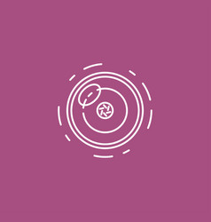 camera lens line icon for infographic website or vector image