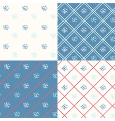 Christmas seamless backgrounds vector image vector image