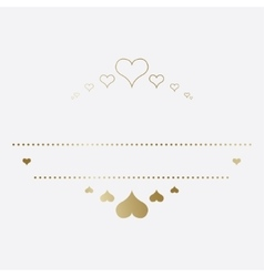 Design template with hearts vector image vector image