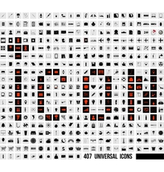 Interface Set of 407 Quality icon vector image