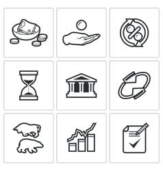 Loan icons vector