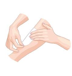 Waxing epilation vector image