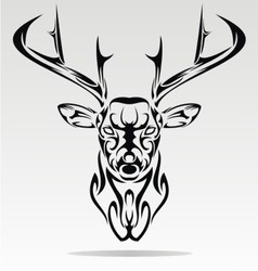 Abstract Deer Head vector image vector image