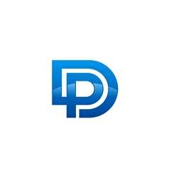 alphabet business logo vector image