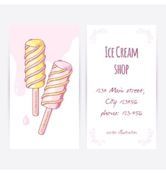 Business card template with hand drawn twisted vector image vector image