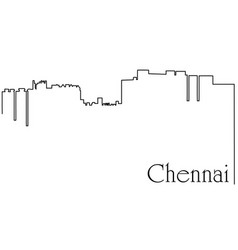 Chennai city one line drawing vector
