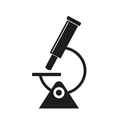 microscope science icon vector image vector image