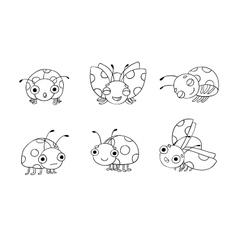 Set of ladybugs vector image