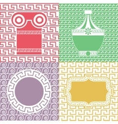 Vintage frames line seamless background for party vector image vector image