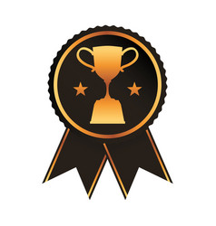 black rosette with torphy cup award vector image