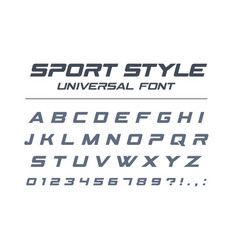 sport style universal font fast speed futuristic vector image vector image