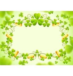 St patricks holiday frame vector image