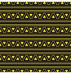 Triangle Aztec Yellow Neon Background vector image