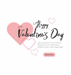 valentines day party web banner background vector image vector image