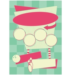 1950s Bowling Style Background and Frame vector