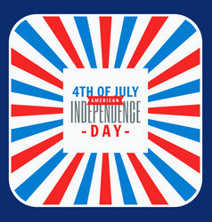 4th july celebration background vector image