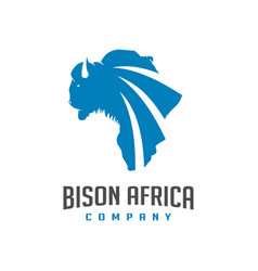 african map design for bison maps vector image