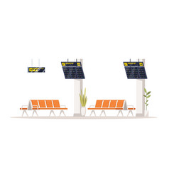 Airport terminal semi flat rgb color vector