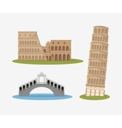 architecture italian culture isolated vector image