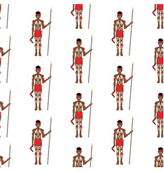 Australian aborigin seamless pattern vector