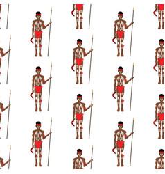 australian aborigin seamless pattern vector image