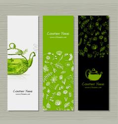 Banners design herbal tea vector