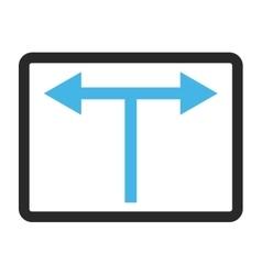 Bifurcation Arrows Left Right Framed Icon vector