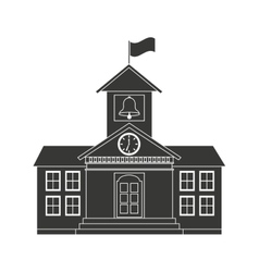 building school flag icon vector image