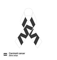 carcinoid cancer ribbon vector image