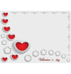 Card for Valentine Day on a Gray Background vector image
