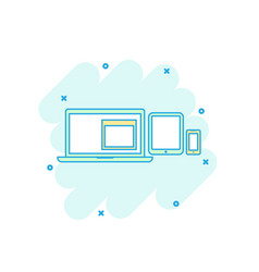 cartoon colored device gadget icon in comic style vector image