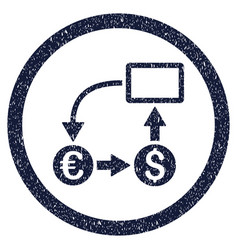 cashflow euro exchange rounded grainy icon vector image